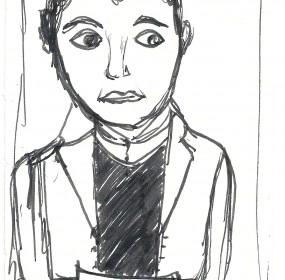 Steve Bisson visto attraverso il disegno della cuginetta Nina