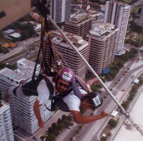 Giovanni Venosta in volo su Rio de Janeiro